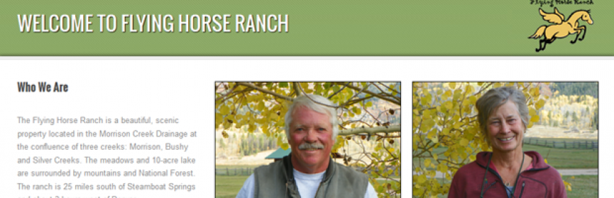 Flying Horse Ranch Web site