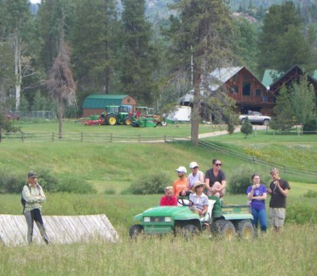 Deeda Randle eventing clinic at Flying Horse Ranch in Oak Creek, CO
